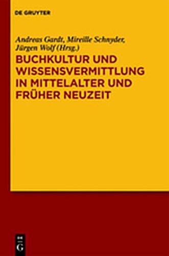 9783110268805: Buchkultur Und Wissensvermittlung in Mittelalter Und Fruher Neuzeit