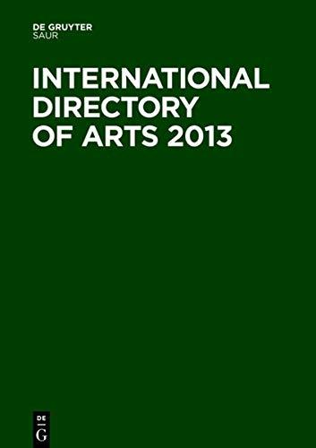 International Directory of Arts 2013: de Gruyter