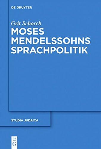 9783110275636: Moses Mendelssohns Sprachpolitik (Studia Judaica) (German Edition)