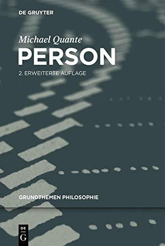9783110279467: Person (Grundthemen Philosophie)
