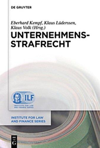 9783110285857: Unternehmensstrafrecht (Institute for Law and Finance)