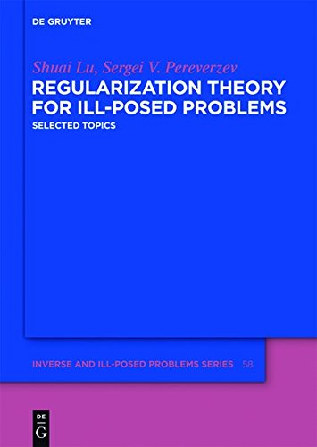 9783110286502: Regularization Theory for Ill-posed Problems: Selected Topics (Inverse and Ill-Posed Problems Series)
