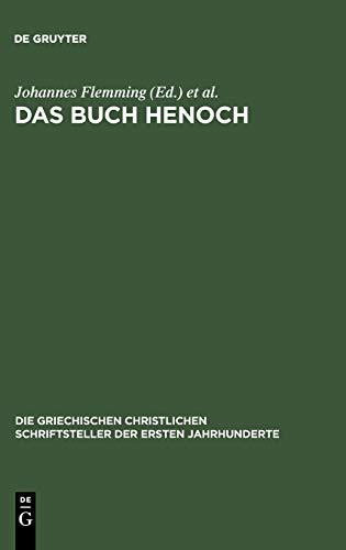 9783110297454: Das Buch Henoch (Die Griechischen Christlichen Schriftsteller Der Ersten Jahr)