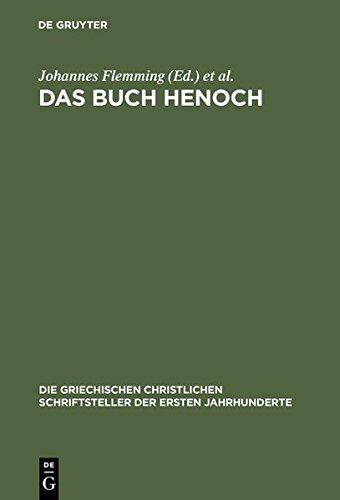 9783110299083: Das Buch Henoch (Die Griechischen Christlichen Schriftsteller Der Ersten Jahr)