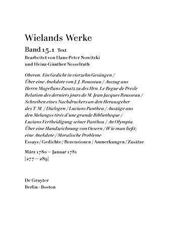 9783110300567: Marz 1780 - Januar 1781 (Wielands Werke)