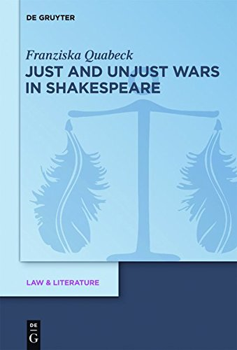 9783110301120: Just and Unjust Wars in Shakespeare (Law & Literature)