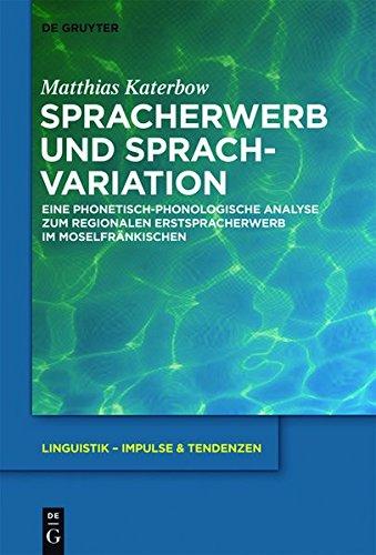9783110309775: Spracherwerb Und Sprachvariation