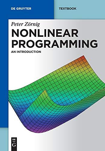 9783110315271: Nonlinear Programming (de Gruyter Textbook)