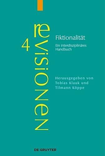 9783110322248: Fiktionalität: Ein interdisziplinäres Handbuch (Revisionen: Grundbegriffe Der Literaturtheorie)