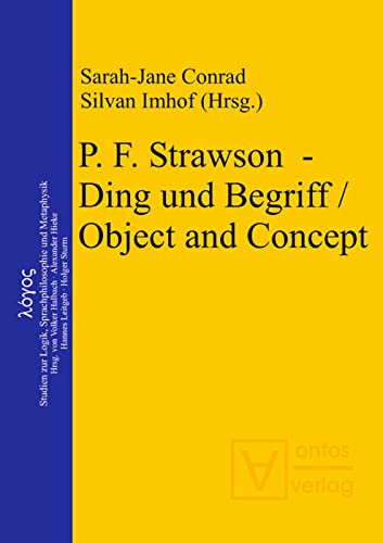 9783110323108: P. F. Strawson – Ding Und Begriff / Object and Concept