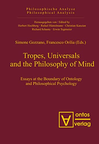9783110326703: Tropes, Universals and the Philosophy of Mind