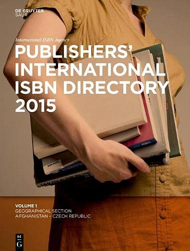 9783110336191: Publishers' International ISBN Directory: Geographical Section Afghanistan - Czech Republic