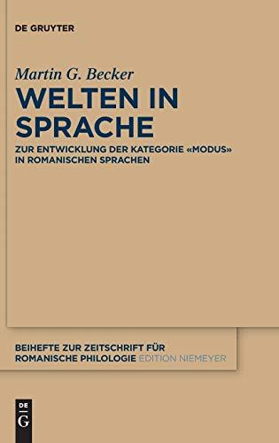 9783110342161: Welten in Sprache (Beihefte Zur Zeitschrift F r Romanische Philologie)
