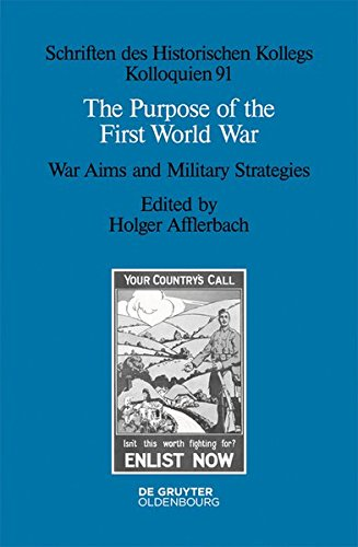 The Purpose of the First World War: Holger Afflerbach