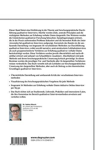 9783110348101: Qualitative Interviews (German Edition)