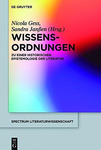 9783110350418: Wissens-Ordnungen: Zu Einer Historischen Epistemologie Der Literatur (Spectrum Literaturwissenschaft / Spectrum Literature)