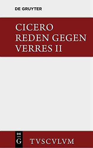 9783110361230: Die Reden Gegen Verres / In C. Verrem (Sammlung Tusculum)