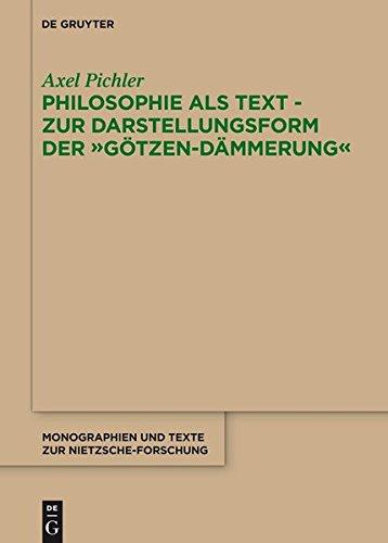 9783110364248: Philosophie ALS Text - Zur Darstellungsform Der