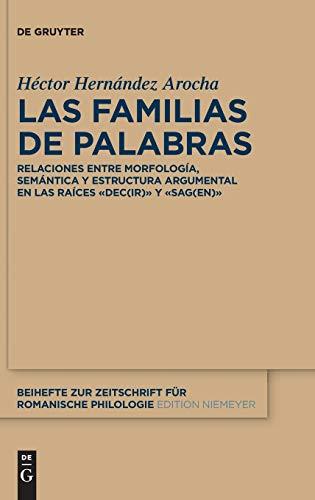 9783110370935 Las Familias De Palabras Relaciones Entre