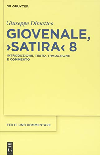9783110371154: Giovenale,
