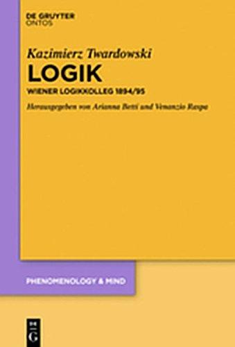 9783110371802: Logik: Wiener Logikkolleg 1894/95