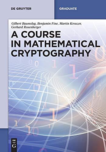 9783110372762: A Course in Mathematical Cryptography (De Gruyter Textbook)