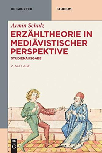 9783110400144: Erzähltheorie in mediävistischer Perspektive: Studienausgabe