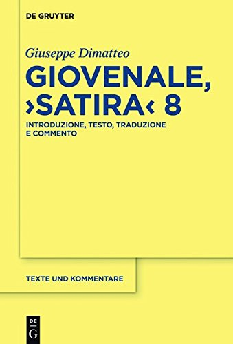 9783110401875: Giovenale,
