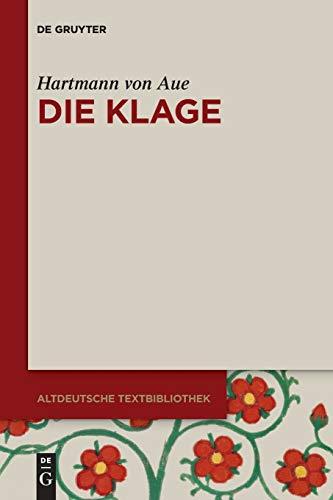 9783110404302: Die Klage (Altdeutsche Textbibliothek) (German Edition)