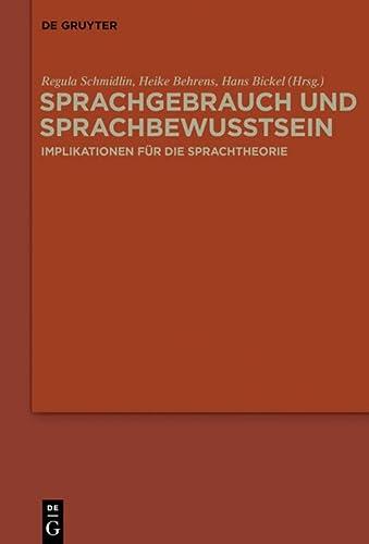 Sprachgebrauch und Sprachbewusstsein: Regula Schmidlin