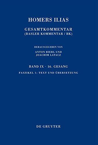 9783110439250: Text Und Ubersetzung (Sammlung Wissenschaftlicher Commentare (Swc)) (English, German and Ancient Greek Edition)