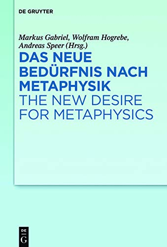 Das neue Bedürfnis nach Metaphysik / The New Desire for Metaphysics: Markus Gabriel