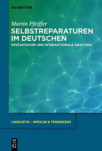 Selbstreparaturen im Deutschen: Martin Pfeiffer