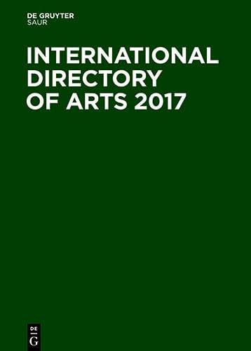 International Directory of Arts 2017: Walter de Gruyter