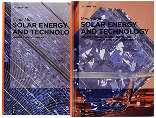 9783110480276: 1-2: Solar Energy and Technology Set