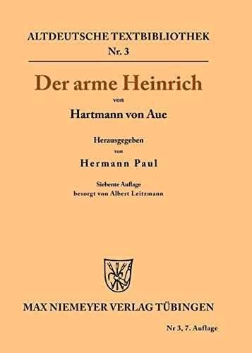 9783110482904: Der arme Heinrich (Altdeutsche Textbibliothek)