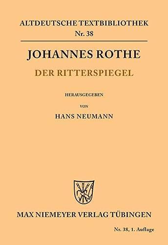 9783110483208: Der Ritterspiegel (Altdeutsche Textbibliothek) (German Edition)