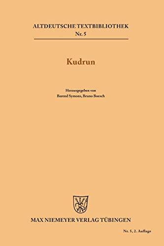 9783110483345: Kudrun (Altdeutsche Textbibliothek)