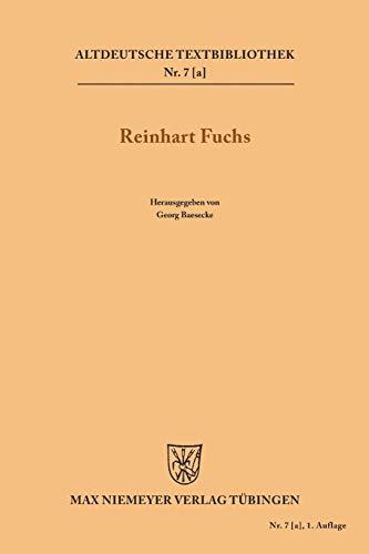 9783110483901: Heinrichs des Glichezares Reinhart Fuchs (Altdeutsche Textbibliothek)