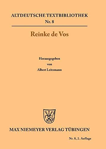 9783110484045: Reinke De Vos