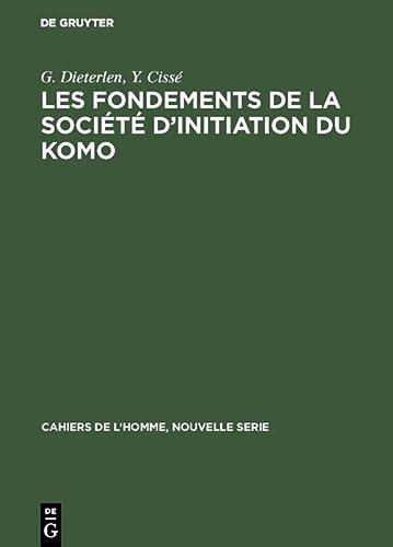 Les fondements de la socià tà d'initiation: Dieterlen, G.