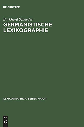 9783110993882: Germanistische Lexikographie (Lexicographica. Series Maior) (German Edition)