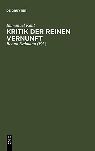 9783111043388: Kritik Der Reinen Vernunft: [Hauptband]