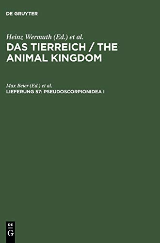 9783111069388: Pseudoscorpionidea I (German Edition)