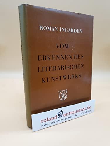 9783111226422: Vom Erkennen Des Literarischen Kunstwerks