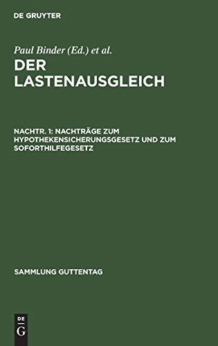 Stock image for Nachträge zum Hypothekensicherungsgesetz und zum Soforthilfegesetz for sale by Ria Christie Collections