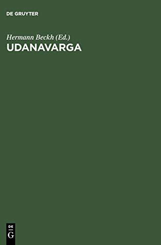 Udanavarga: Eine Sammlung Buddhistischer Spruche in Tibetischer: Hermann Beckh