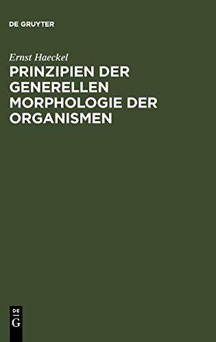 9783111263670: Prinzipien der generellen Morphologie der Organismen (German Edition)