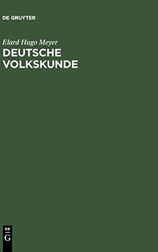 9783111288604: Deutsche Volkskunde