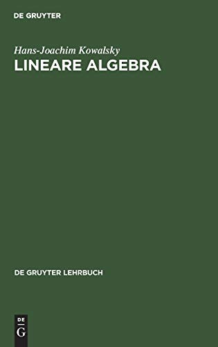 9783111295732: Lineare Algebra